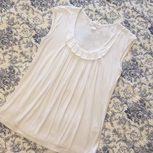 August Silk Options white top